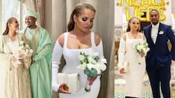 More beautiful photos and videos from the wedding of Mahama's son and his Algerian girlfriend drop