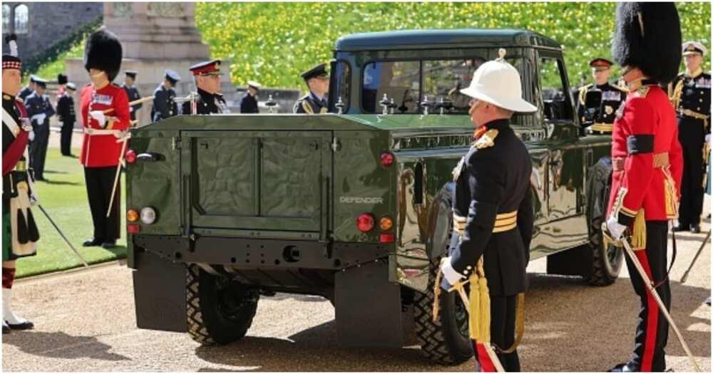 Prince Philip: Duke of Edinburgh's Body Carried on a Land Rover He Designed