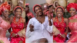 First exclusive videos emerge as actress Yvonne Okoro's younger sister marries in a beautiful wedding