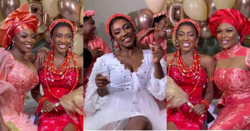 Yvonne Okoro's Sister Roseline Marries In Beautiful Wedding; First Exclusive Videos Drop