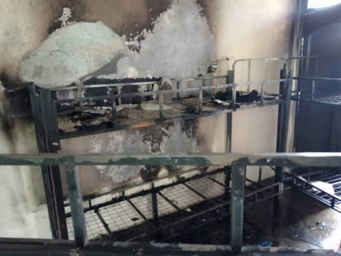 Fire guts Nsutam SHS girls dormitory