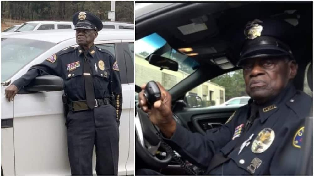 He's a cop. He's 91. And he has no plans to retire, says until God wills