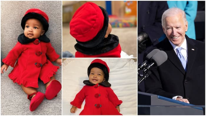 Little baby 'turns up' in amazing outfit on Joe Biden's inauguration day (see photos)