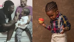 Rare throwback video of Stonebwoy kissing his first son Janam pops up
