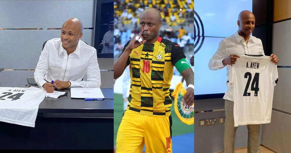 Ghana captain Andre Ayew completes move to Qatari giants Al Sadd; photos drop