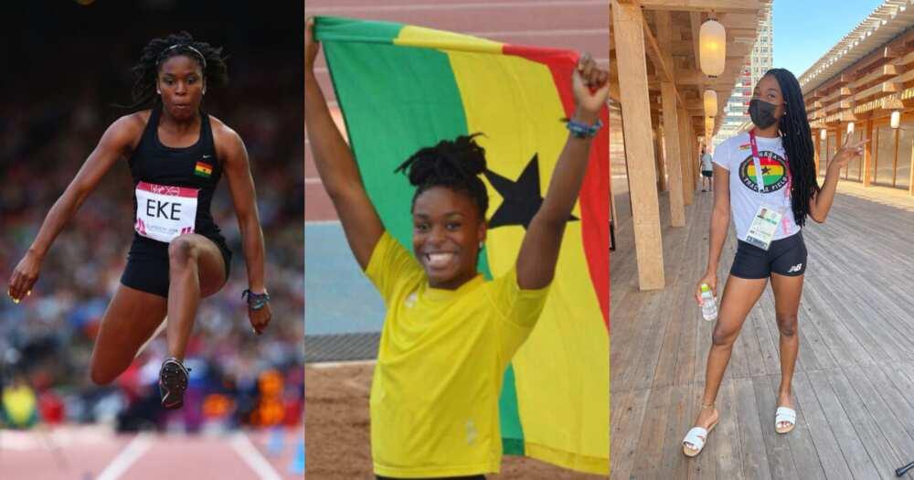 Tokyo 2020: Ghana's flagbearer Nadia Eke lands in Japan ahead of Olympic Games