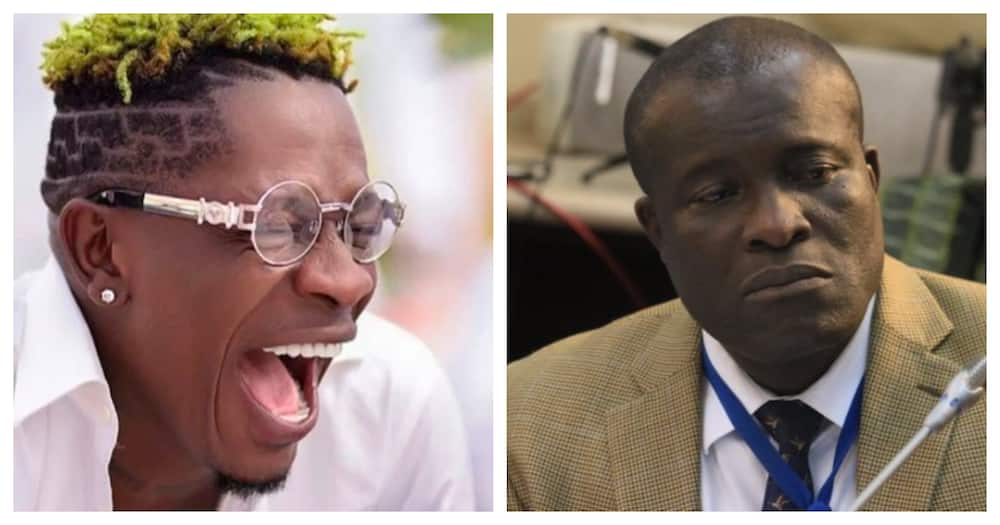 Shatta Wale and Titus Glover. Source: User-generated