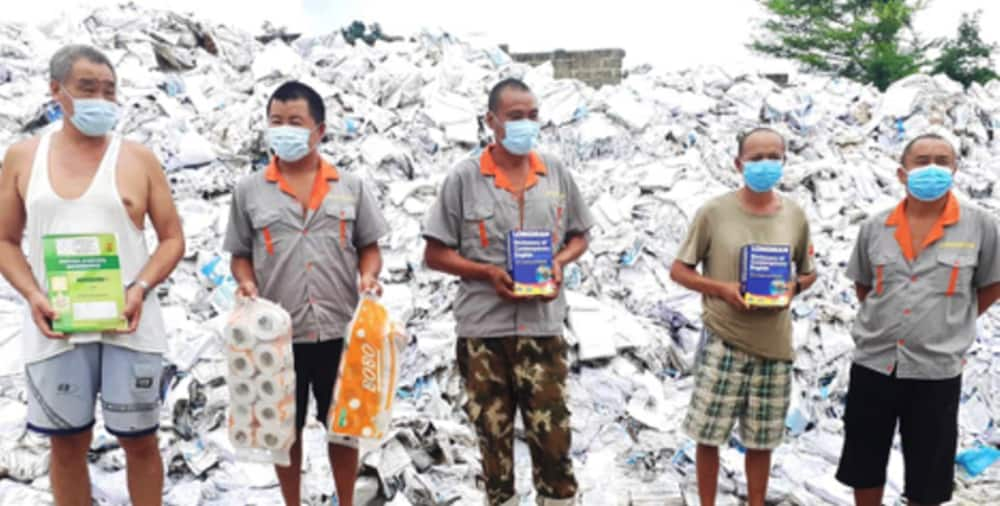 GRA closes Chinese factory which illegally recycles gov't textbooks into toilet rolls