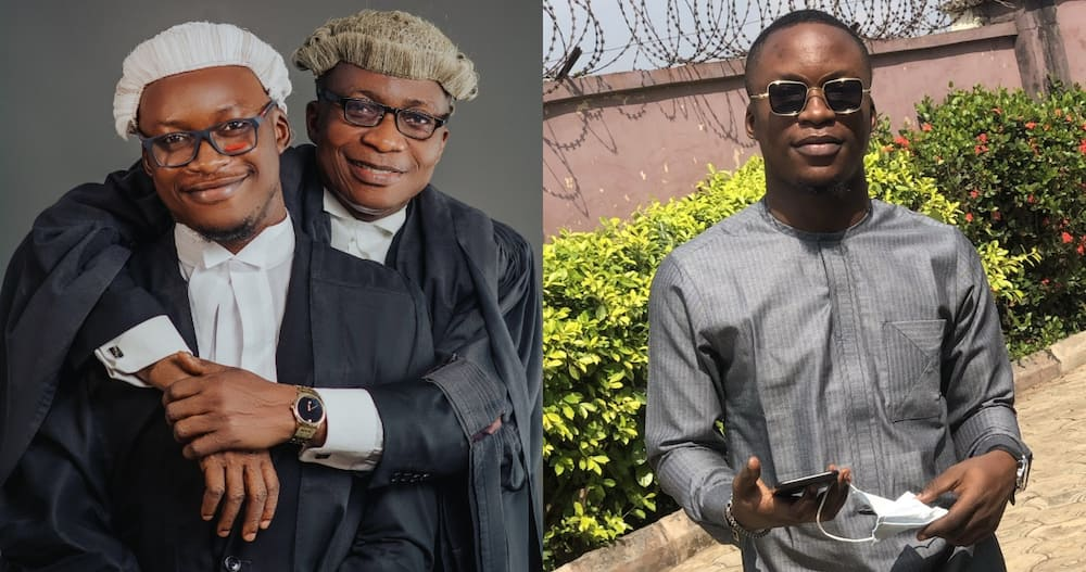 Young man Becomes Lawyer with his Father who is also a Lawyer
