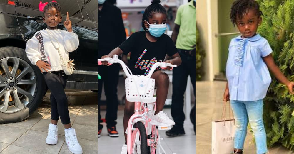 Sarkodie and daughter Titi Sarkcess go toys shopping in new photos