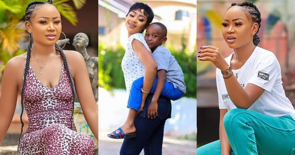Akuapem Poloo lands in court over naked photos with her son; granted GHC100k bail