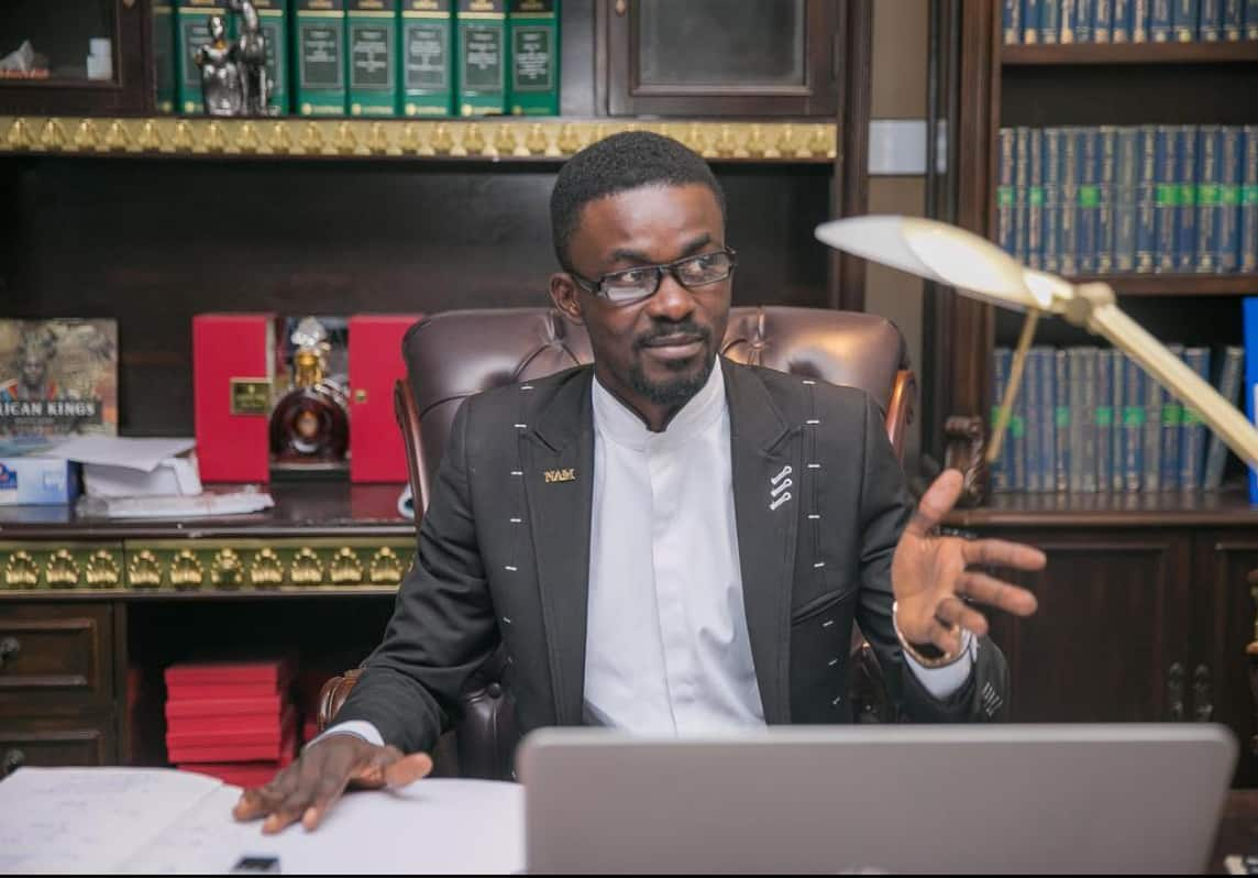 First photo of NAM1 smiling after his arrival in Ghana pops up online