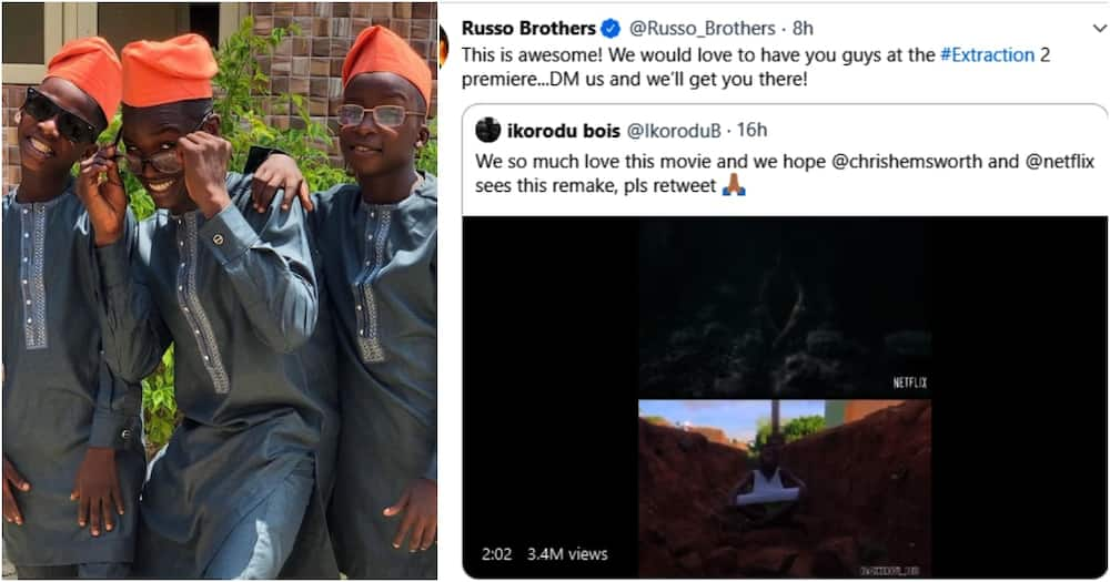 Ikorodu Bois get invite to Extraction movie premiere in Nollywood