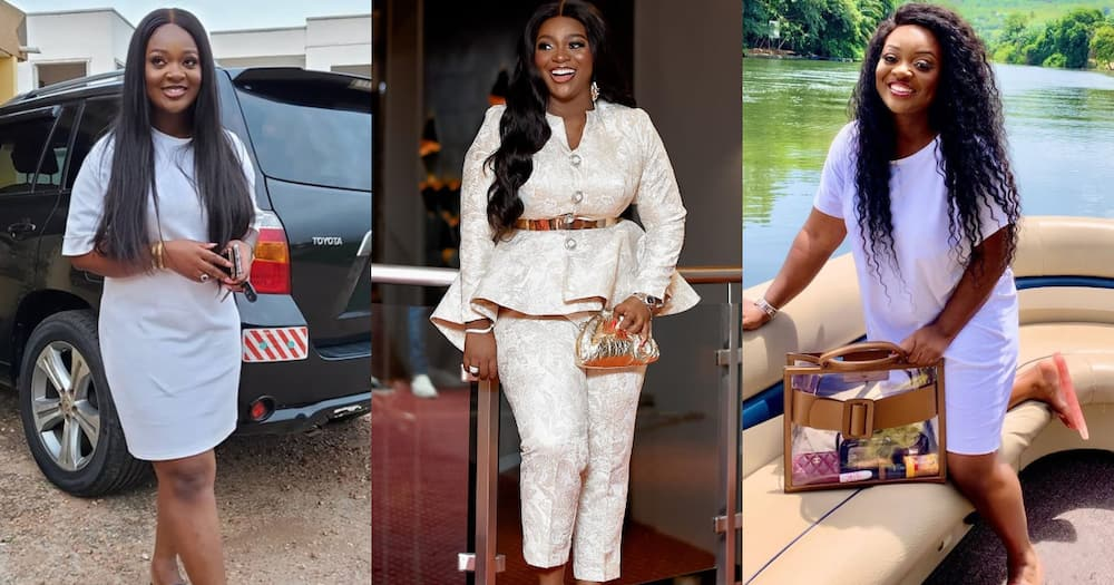 Jackie Appiah shares angelic photo to dispel pregnancy rumours