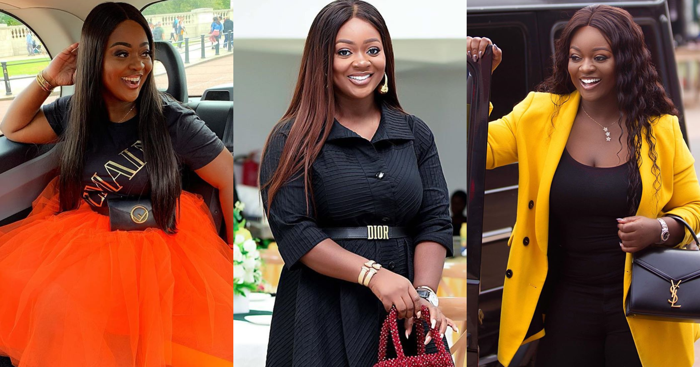 Video of a pregnant Jackie Appiah flaunting her huge baby bump hits the internet