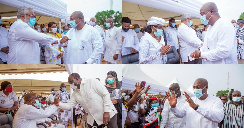 Rawlings' mother's funeral: Mahama mourns with family at Keta (photos)