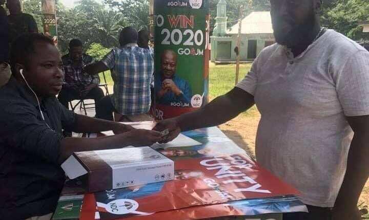 Michael Afranie donates 1 cedi to Mahama 2020