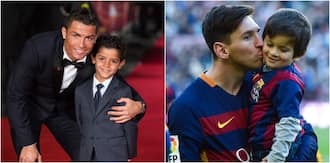 Footage shows Ronaldo's son will become a better footballer than Messi's