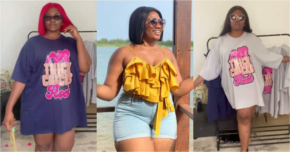 Abena Korkor's Waist Movement in new Video Distracts Foreigners who stop to Watch her