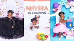 Tracey Boakye's daughter get a big surprise from her rich aunt on her 1st birthday; video drops