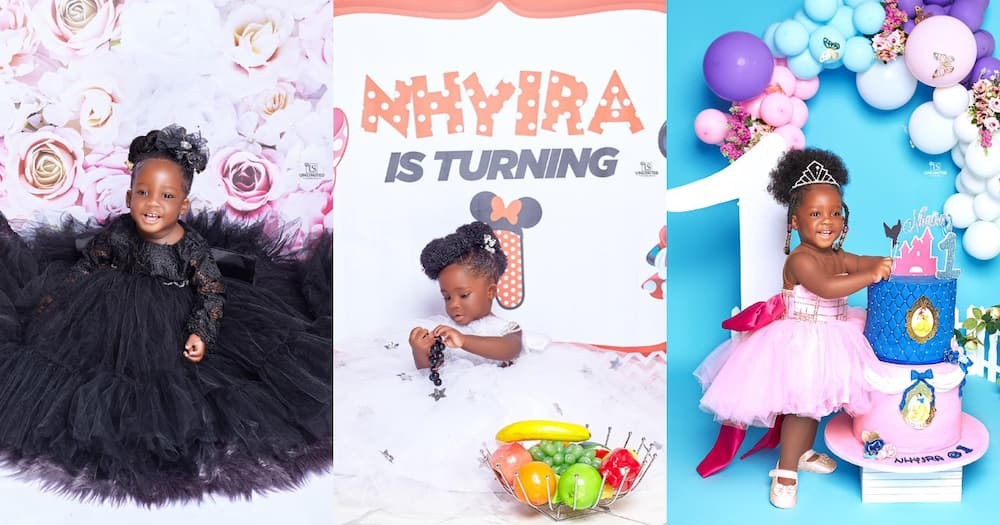 Nana Akua Nhyira: Tracey Boakye' Daughter Gets Big Surprise From Her Rich Aunty On Her 1st Birthday