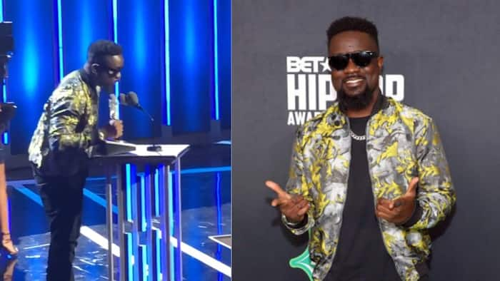 Video of lean-looking Sarkodie rapping in a bus before fame pops up