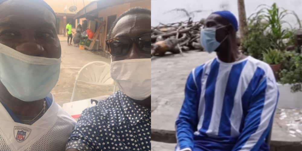 PHOTO: Ace comedian KSM drops emotional photo with Emmanuel Armah as sick actor marked his 61st b'day