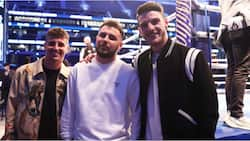 Top Chelsea star who missed game against Man City spotted watching Joshua vs Usyk fight with England teammate