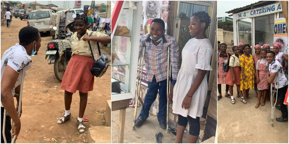 So kind: Physically challenged Nigerian man hailed on social media for enrolling schoolgirl in catering school