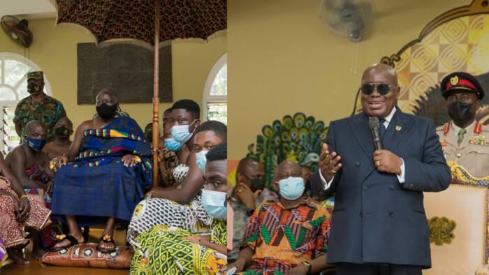 Akufo-Addo kickstarts 4-day Ashanti Region visit by courtesy call on Otumfuo Osei Tutu(photos)