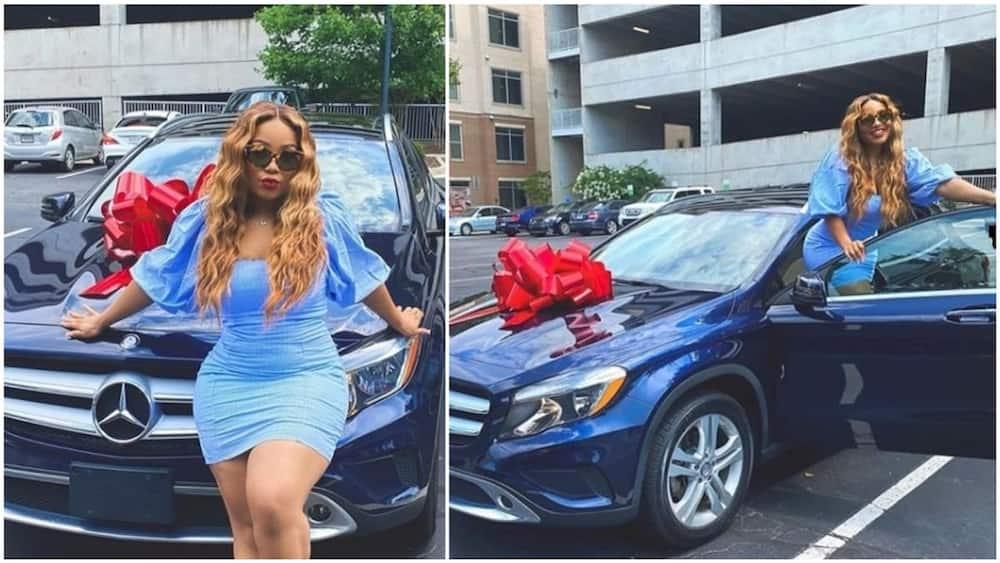 Davido's cousin Adenike receives a Benz as graduation gift from her dad