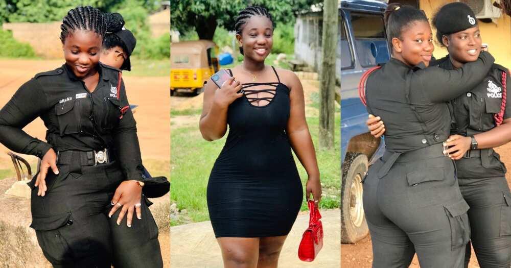 Ama Serwaa: Meet curvy police lady whose photos are causing a stir