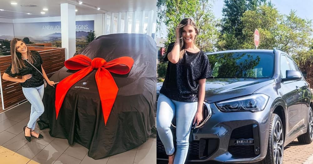SA lady buys brand new BMW
