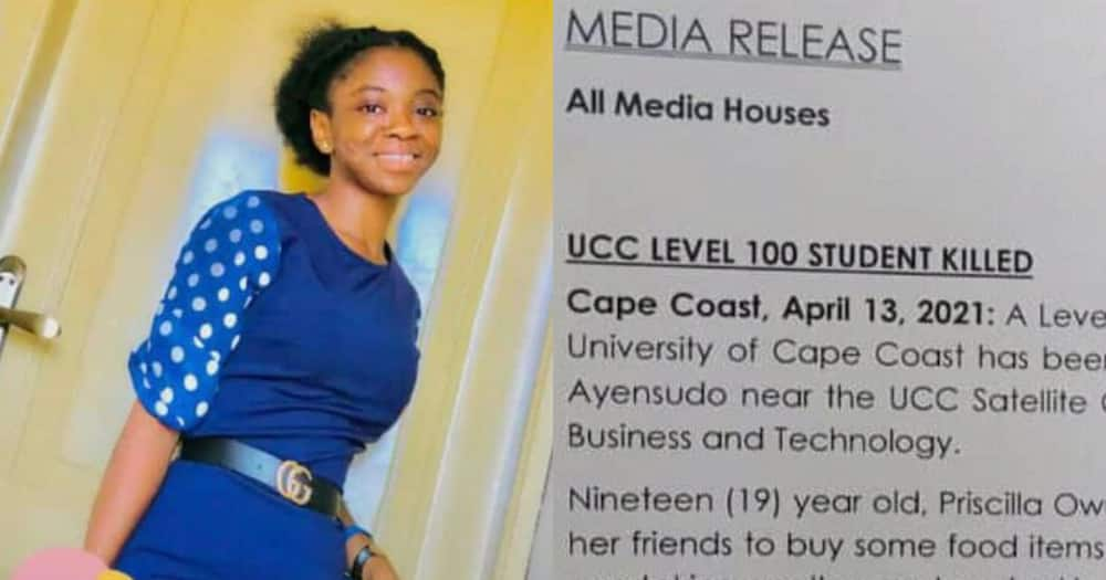 UCC Student Priscilla Owusu Achiaa Passes Away After Knocks Her Down