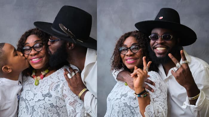 M.anifest flaunts his beautiful mother and handsome boy in 3-generational family photos