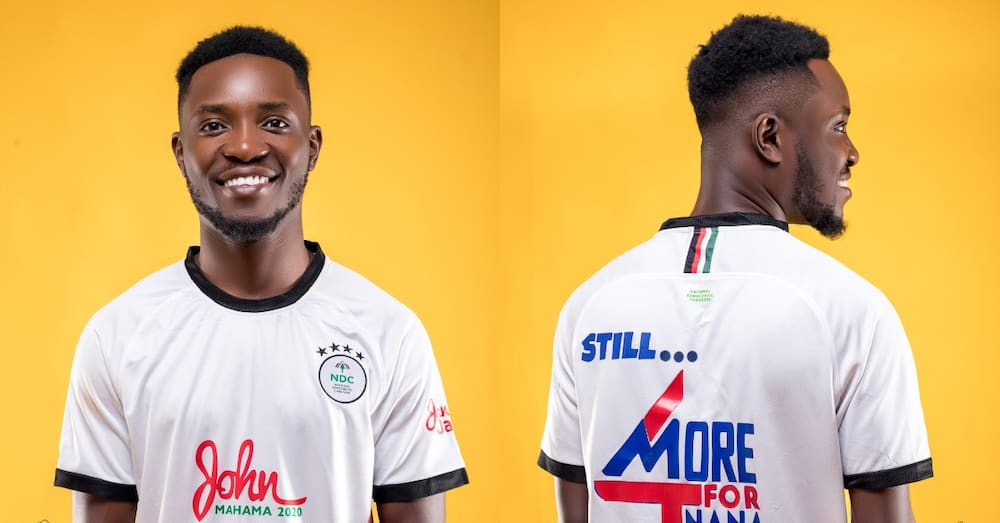 Fans whip Teacher Kwadwo online after wearing shirt branded as both NDC & NPP