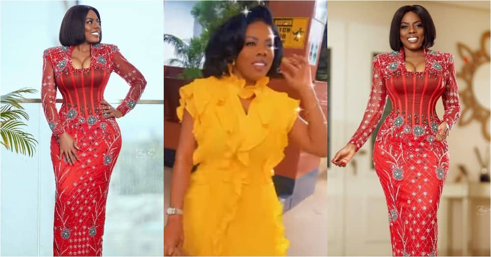 Nana Aba Anamoah Glows in Sparkly Red Dress as she Drops 4 Stunning Photos, Videos