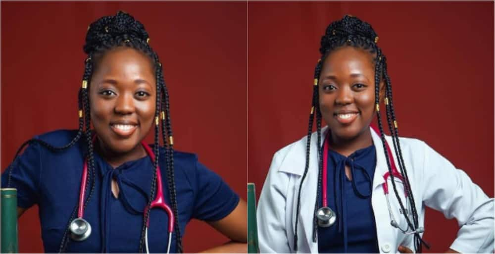 Dr Blessing Boateng: Ghanaian lady celebrates with beautiful photos as she becomes a medical doctor
