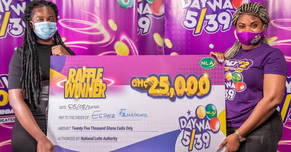 NLA Daywa 5/39's new Weekly Raffle awards first winner with GhC25,000 cash prize