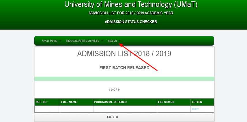 UMaT admission