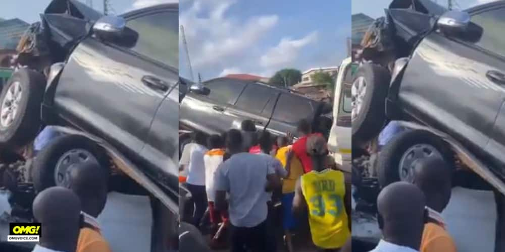 Breaking: Gory accident on Awoshie- Odorgonno road; 4 drivers dead