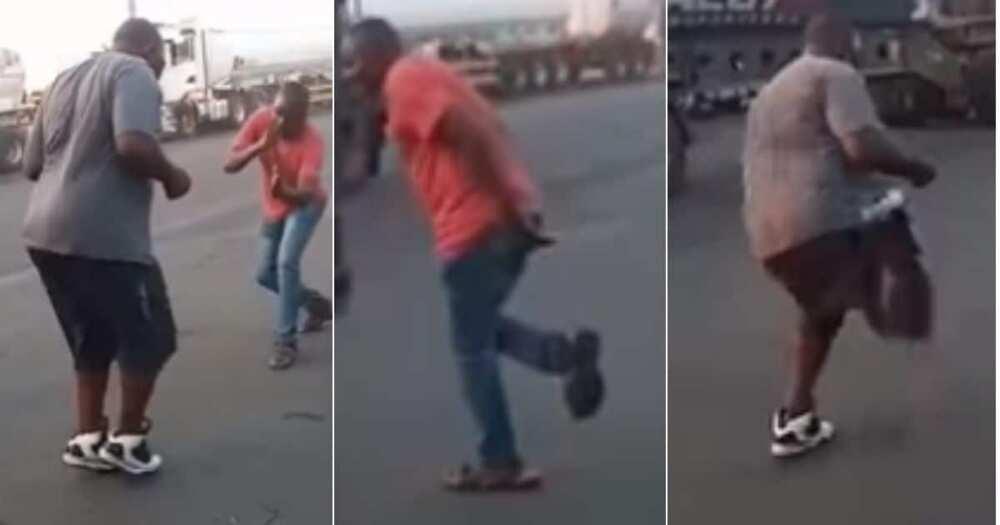 Video of 2, Men Dancing, Road, Bring, Vibe to Mzansi
