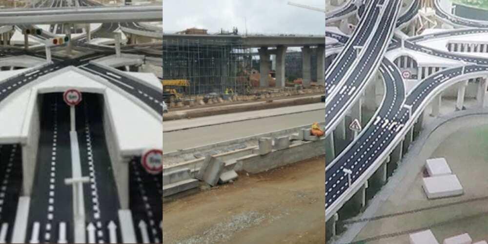 PHOTOS: Pokuase Interchange under construction as beautiful photos pop up