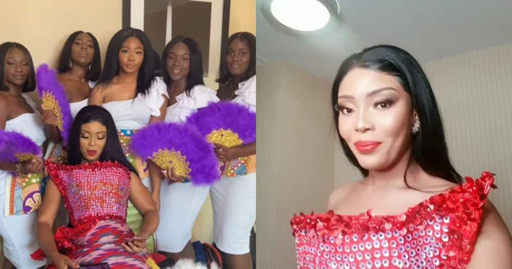 Baby Blanche: Actress marries Stephen Agyapong in the US; traditional wedding videos