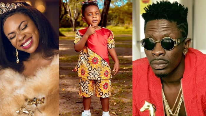 """""""His mad face like Shatta Wale"""" - Fans stunned over video of angry Majesty looking like father"""