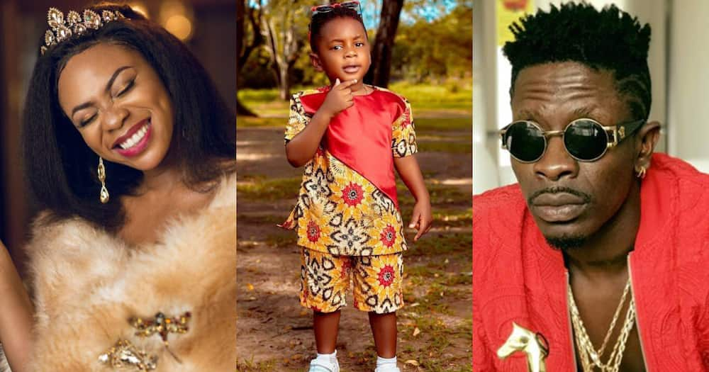Majesty: Shatta Wale's son Feeds his Mother Michy is Video