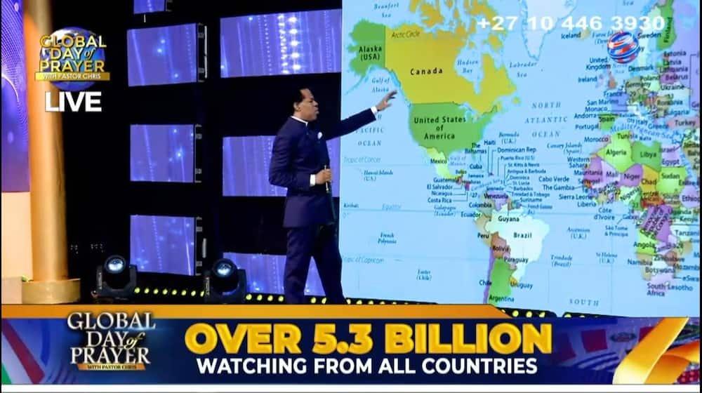 Pastor Chris trends on Twitter for boasting about over 5 billion viewers watching his sermon