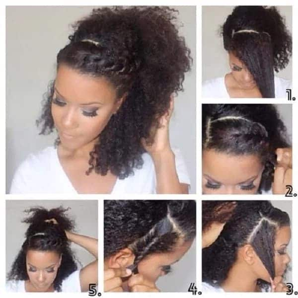 easy styles for natural hair