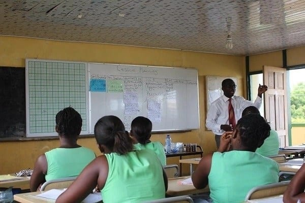 Double-track education system Double-track education system Ghana Schools in Ghana Free education in Ghana Educational reforms in Ghana