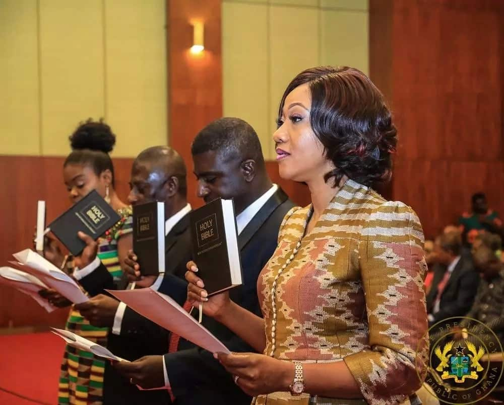 Akufo-Addo swears in new EC chair and 7 High Court judges